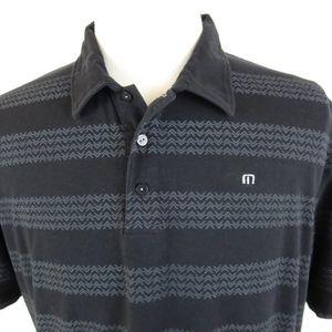 Travis Mathew XL Golf Polo Shirt Chevron FLAW HOLE